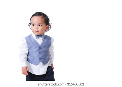 46ec79bbd Cute Baby Boy Shirt Vest Tie Stock Photo (Edit Now) 331620782 ...