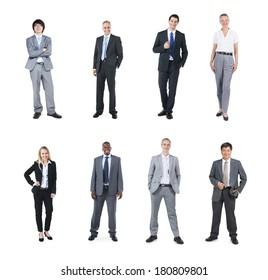 Portraits of Multi Ethnic Cheerful Business People
