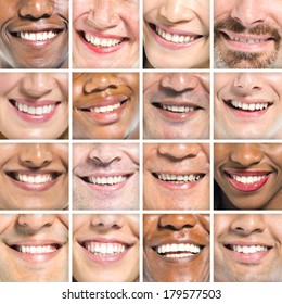 Portraits od Variation of Multi-ethnic Smiles