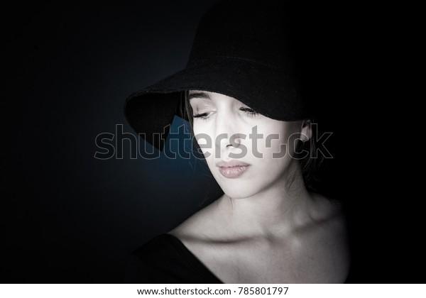 portraits on black background