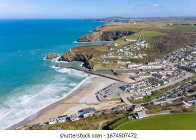 Portreath Cornwall on a sunny day