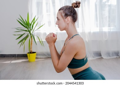 Portret of Young sporty attractive woman practicing yoga, working out - Shutterstock ID 2044541303
