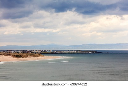 Portrush and White Rocks Beach, North Coast, County Antrim, Northern Ireland.