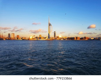 Portsmouth Harbour in December