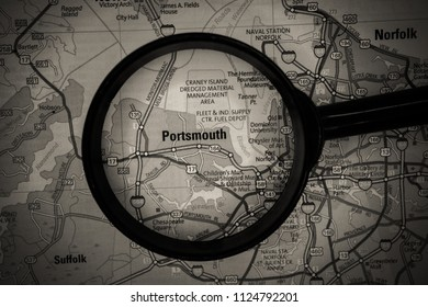 Portsmouth on USA map