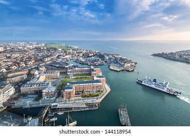 PORTSMOUTH, UK - MAR 19: Portsmouth, the UK's 2nd largest international port, on March 19, 2013. Over 3 millions passengers visit Portsmouth every year, making Portsmouth one of the famous port in UK.