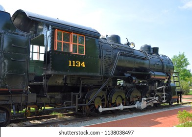 PORTSMOUTH, VA, USA - MAY 5, 2012: Norfolk and Western engine No. 1134 steam locomotive in Railroad Museum of Virginia in Norfold, VA, USA.