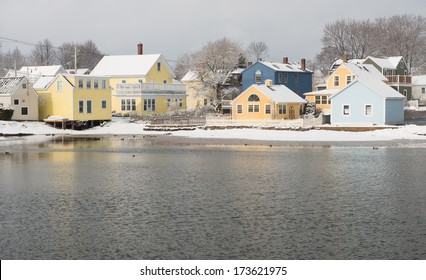 Portsmouth's charming South End after a Winter Storm, Portsmouth, New Hampshire, USA