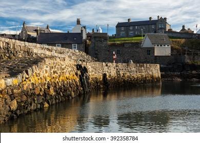 Portsoy Harbour, Aberdeenshire, Scotland UK.