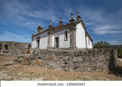 BAIÃO, PORTUGAL, 01 AUG 2017. A view from Senhora do Loureiro Chapel, at Baião county, Grilo.