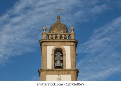 CINFÃES, PORTUGAL, 20 OCT 2018 - A view from Cinfães Mother´s Church,  From the 8th century. It has a Religious, Baroque and Neoclassical Architecture