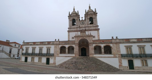 Portugal, 30/03/2012: view of the Church of Our Lady of Nazare, built in 1377 in order to house the sacred image of Our Lady of Nazareth and to host the large number of pilgrims who went there