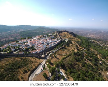Portugal. Aerial view in Marvao. Alentejo. Drone Photo