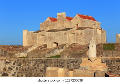 Portugal, Alentejo, Elvas. The historical Fort of Our Lady of Grace in the late afternoon sunshine. The garrison border town of Elvas is a UNESCO World Heritage Site.
