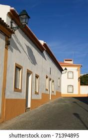 Portugal Alentejo Region Crato Typical quiet sun-basked Alentejo street