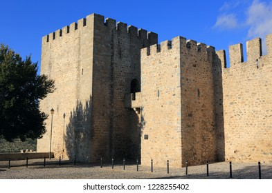 Portugal, Alentejo region, Elvas Castle in the late afternoon sunshine.The Garrison Border Town of Elvas and its Fortifications is a UNESCO World Heritage site.