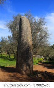 Portugal Alentejo Region Evora Chromlech of Almendres standing granite stone from the megalithic period of archaeoastronomical interest UNESCO World Heritage site