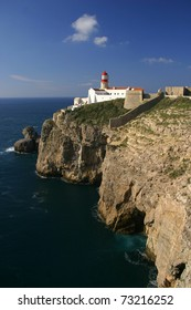 """Portugal Algarve Region Sagres Lighthouse at """"Cape Saint Vincent"""" - """"Cabo Sao Vicente"""" - Continental Europe's most South-westerly point"""