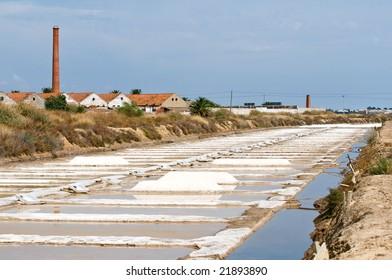 Portugal, Algarve. Saline marshes in Tavira.