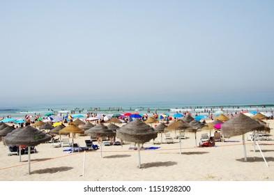A portugal beach in Costa Caparica, Almada