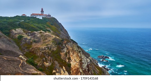 Portugal. Cape Rock Lighthouse. Cabo da Roca is the westernmost point of continental Europe. Travel and attractions