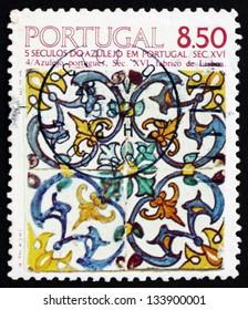 PORTUGAL - CIRCA 1981: a stamp printed in the Portugal shows Pisanos Design, 16th Century, circa 1981