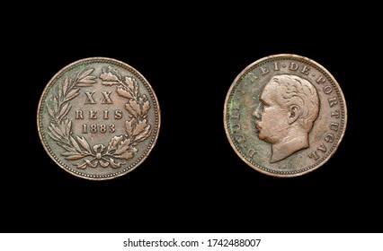 Portugal coin of the XIX century