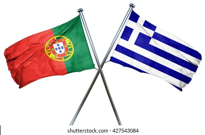 Portugal flag  combined with greek flag