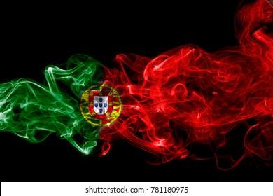 Portugal flag smoke