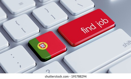 Portugal High Resolution Find Job Concept