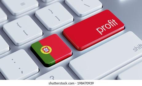 Portugal High Resolution Profit Concept