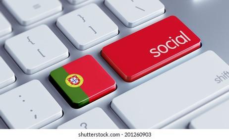 Portugal High Resolution Social Concept