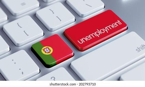 Portugal High Resolution Unemployment Concept