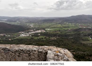 Portugal Marvão inside castle medieval town details and landscape