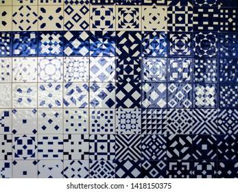 Portugal, Lisbon / 2015 August 15th / Museu Nacional do Azulejo, traditional azulejos tiles