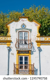 Portugal, Lisbon. Picturesque, medieval town of Obidos. Typical 18th-century house. Obidos is an excellent example of conservation and sustainable tourism.