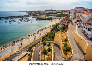 Portugal: the old town of Sines, a Portuguese city, located on Atlantic coast, in the summer