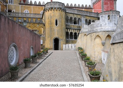 Portugal, the Pena National Palace in Sintra,