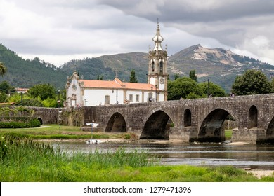 Portugal, Ponte de Lima. Oldest city in Portugal. It is named for a long medieval bridge that runs across the Lima River. 18th C. Sao Francisco church.