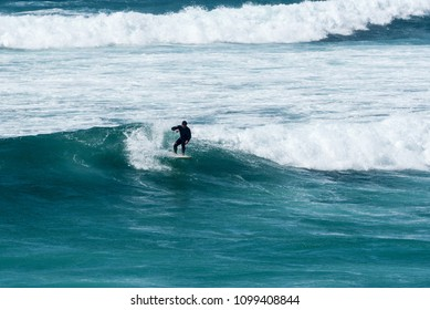 Portugal, Praia do Guincho - May 7, 2018 The beach, is popular for surfing, windsurfing, and kitesurfing. Strong northern winds are predominant during summer time