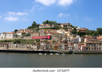 Portugal river Douru in the city Porto