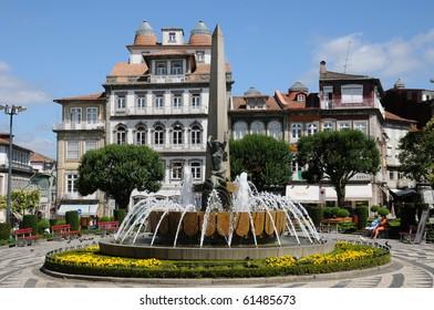 Portugal, square in Guimaraes