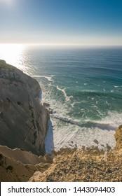 Portugal, the west coast of the Atlantic Ocean. Cape Espichell, Cabo da Roca