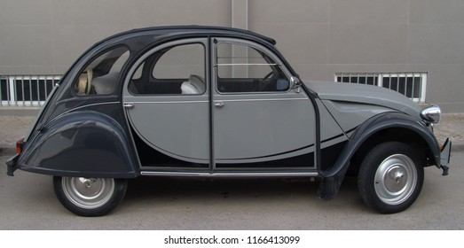 Portugal,Alentejo,Evora 08.06.2016 Vintage Citroen 2CV in grey colour
