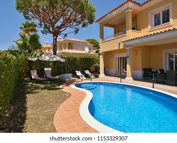 Portugal,Algarve,Quarteira 23.07.2016 Luxury villa with pool in Quarteira, Algarve - Portugal