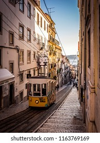 Portugal,Lisbon,Lisboa 27.06.2015 Yellow tram in the streets of Lisbon - Portugal