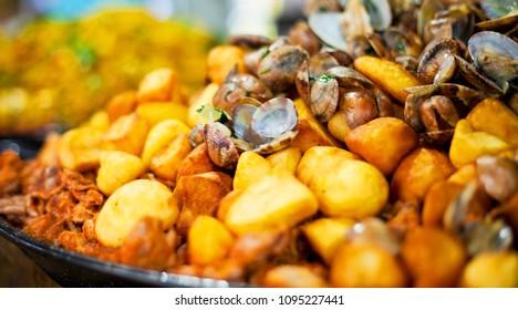 Portugese Pork with Clams and potatoes- Porco a Alentejana