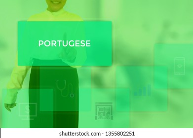 PORTUGESE - technology and business concept