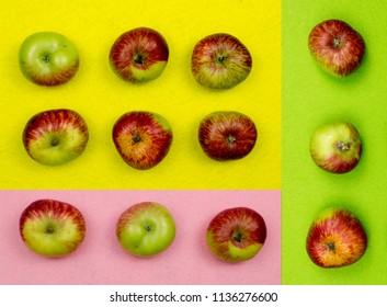 portuguese apples on colors