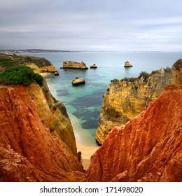 Portuguese Atlantic coast. Lagos in Algarve